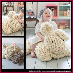 Giant Arm Knit Easter Bunny (FREE PATTERN)