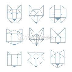 animales geometricos vector - Buscar con Google