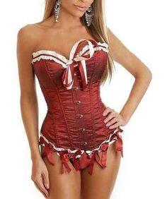 Precioso Corsé Rojo Princesa que te hará sentir como tal. Un elegante y sexy corsé que combina el rojo con el blanco mediante unas sugerentes tiras blancas. Un sensual modelo que desearás ponértelo.