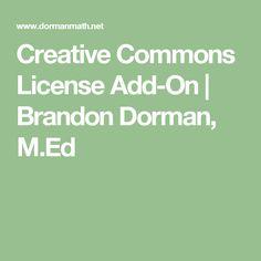 Creative Commons License Add-On | Brandon Dorman, M.Ed