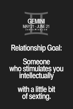"""RelationshipGoals"" - Zodiac Mind - Your source for Zodiac Facts Gemini Quotes, Zodiac Signs Gemini, Zodiac Mind, Zodiac Quotes, Zodiac Facts, Zodiac Horoscope, June Gemini, Gemini Life, Gemini Woman"