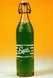 Frisdrank Exota. Was een feest als je dat kreeg. Later uit de handel genomen wegens ontploffingsgevaar van flesje.