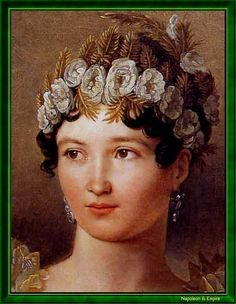Caroline Bonaparte (1782-1839) was a younger sister of Napoleon. She married Joachim Murat in 1800, becoming Queen Consort on Naples in 1808.