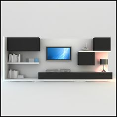 Contemporary Wall Units For Tv : Wall Unit Bookcases