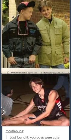 Young Jensen and Jared just saying. From this picture to season one Jared has never changed! Just saying!