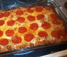 Weight Watcher Recipes – Pizza Pasta Casserole 6 points/serving