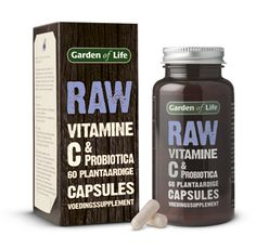 RAW Vitamine C & Probiotica  - bevat vijf verschillende soorten probiotica  - vitamine C draagt bij aan een goede weerstand