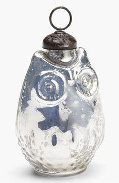 'Small' Mercury Glass Owl Ornament | Nordstrom