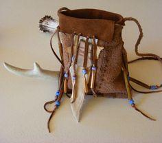 JEMEZ PUEBLO deerskin Medicine Bag Spirit Pouch by pradoleather, $69.00