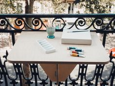 Table Dépliante, Dining Table, Made In France, Balcony, Instagram, Furniture, Home Decor, Small Balconies, Decoration Home