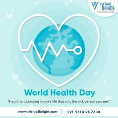 """Healthy is a blessing in one's life that only the sick person can see.""  #worldhealthday #healthday #worldhealthday2020 #coronaawareness #indiafightscorona #healthyathome #indiafightcorona #stayhome #stayhomestaysafe #lockdown #lockdown2020 #stayhealthy #staysafe #staysafeeveryone #ahmedabad #virtualheight"