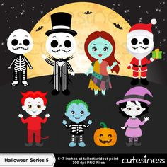 HALLOWEEN Digital Clipart, Halloween Clipart, Skeleton Clipart