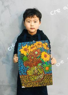 빈 센트 반 고흐[킨더 (초등) 수업 / 시흥시 정왕동 배곧 미술학원 - 창의미술 크리아트 ] : 네이버 블로그 Group Art Projects, Cool Art Projects, Elementary Art Rooms, Art Lessons Elementary, Van Gogh Art, Art Van, Kids Art Class, Art For Kids, Drawing For Kids