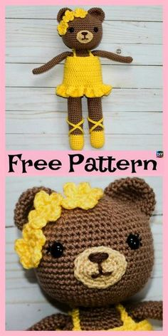 Adorable Crochet Bear Ballerina – Free Pattern #freecrochetpatterns #giftidea #amigurumi #bear