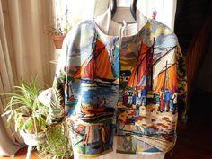CANEVAS RECYCLES VESTE : Manteau, Blouson, veste par chiffonsboutique