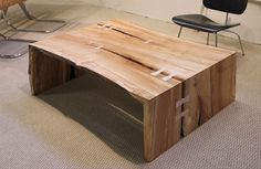 Urban Hardwoods Furniture - Seattle, maple coffee table #Anthropologie #PinToWin