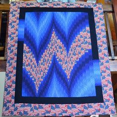 Image result for two fabric bargello quilts