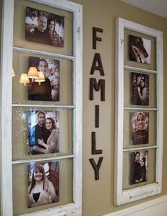 what to make with old window frames | window frames as picture frames