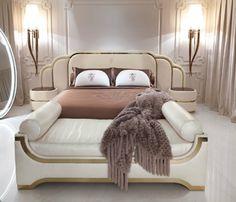 Pastel master bedroom decor with golden details and gorgeous bedroom furniture   www.bocadolobo.com #bedroomdesign