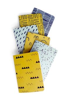 These Cotton & Flax patterned pocket notebooks look so modern and awesome…
