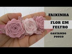 Felt Flowers, Fabric Flowers, Pearl Headband, Diy Hair Bows, Diy Home Crafts, Baby Headbands, Diy Hairstyles, Wedding Centerpieces, Hair Clips