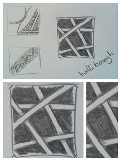 """zentangle patterns: hollibaugh - gefunden in """"Freude mit Zentangle. Der Einsteigerkurs"""" (Buch)"""