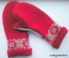 Lucky Star Lane: Felted Recycled Wool Mitten Tutorial. Repurpose an old sweater!
