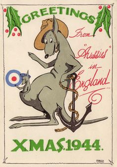 Christmas card sent from an Australian soldier in 1944