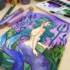 "17.7 k gilla-markeringar, 107 kommentarer - Jacquelin de Leon (@jacquelindeleon) på Instagram: ""I had too much fun finishing up this mermaid that I started during the livestream the other day! ✨…"""