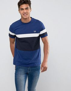Get this Fred Perry's basic shirt now! Click for more details. Worldwide shipping. Fred Perry Slim Colour Block T-Shirt In Blue - Blue: T-shirt by Fred Perry, Soft-touch jersey, Crew neck, Colour-block design, Embroidered chest logo, Slim fit - cut close to the body, Machine wash, 100% Cotton, Our model wears a size Medium and is 188cm/6'2 tall. Fred Perry's authentic menswear collection is heavily influenced by the brand's historical roots in sport and classic, urban menswear. The range…
