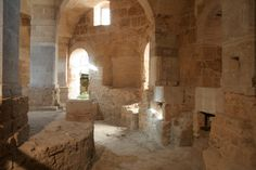 Battistero paleocristiano di San Giovanni, Canosa di Puglia, Puglia, prima metà del VI secolo. Fu costruito sotto il vescovo Sabino (516-566).