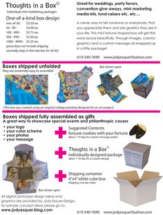 Pricing for custom designed boxes
