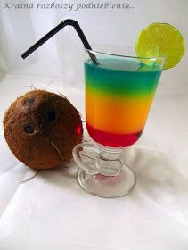 Kraina rozkoszy podniebienia...: Drink Jamaica na pierwsze urodziny Krainy rozkoszy podniebienia Blue Curacao, Beverages, Drinks, Keto Diet For Beginners, Keto Recipes, Lose Weight, Food And Drink, Pudding, Tasty