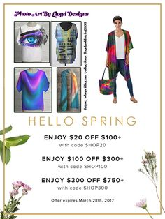 HUGE Spring sale on Photo Art By Lloyd Designs. Click here: https://shopvida.com/collections/lloydgoldstein2003 Enjoy $20 off $100+  Code SHOP20 or Enjoy $100 off $300+ Code SHOP100 or Enjoy $300 off $750+ Code SHOP300
