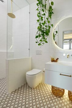The Block 2019: Interior designers share their thoughts on the en suite reveals Ensuite Bathrooms, Bathroom Renos, Laundry In Bathroom, The Block Bathroom, Remodel Bathroom, Small Bathrooms, Bathroom Renovations, Bathroom Cleaning, White Bathroom