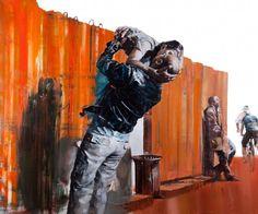 © Dan Voinea, Playboy afternoon, huile sur toile, 100x120cm, 2012