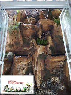 tukang taman banjarbaru, jasa pembuatan vertical garden,kolam, tebing, gasebo, water wall, banjarbaru