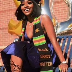 Sankofa Edition™: Premium Kente Stoles and Sashes for Graduation - Graduation pictures,high school Graduation,Graduation party ideas,Graduation balloons Girl Graduation Pictures, Graduation Picture Poses, College Graduation Pictures, Graduation Photoshoot, Grad Pics, Nursing Graduation, High School Graduation, Graduate School, Graduation Ideas