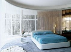 Beaded Curtains in the Bedroom... Love it!!!!