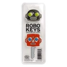 Robo Keys: Space Age Key Covers from Fred Key Covers, Space Age, Toys For Boys, Primitive, Office Supplies, Personal Care, Stuff To Buy, Keys, Robots
