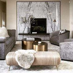 LUXURY LIVING ROOM | Grays, champagne and gold.| www.bocadolobo.com/ #luxuryfurniture #designfurniture