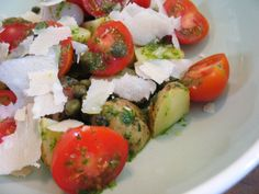 Summertime Potato Salad with Tomatoes and Basil Oil    Sounding My Barbaric Gulp!