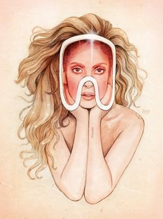 Lady Gaga art by Helen Green for ArtPop! Lady Gaga Artpop, Lady Gaga Applause, Helen Green, The Last Unicorn, Our Lady, Art Images, My Idol, Cool Art, Aurora Sleeping Beauty