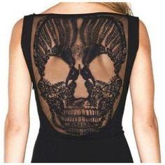black lace skull | fabric & bones    @Jill Montes @Julie Duvall