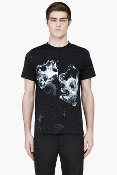 KRISVANASSCHE Black Graphic T-Shirt