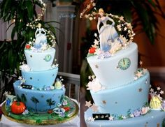 Dreaming of a cake fit for a princess? Look no further than this Cinderella-inspired dessert! With a little help from some lovable mice and the Fairy Godmother, this cake fits the bride and groom like. Disney Themed Cakes, Themed Wedding Cakes, Disney Cakes, Fairytale Weddings, Cinderella Wedding, Cinderella Theme, Cinderella Princess, Princess Cakes, Cinderella Birthday