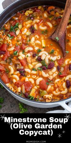 Minestrone soup is so hearty it can stand on its own as the main dish! I fell in love with minestrone at the Olive Garden, so this is a pretty darn close attempt at copying the classic Italian soup.