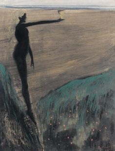 'Femme nue tenant une coupe' (1910) Léon Spilliaert