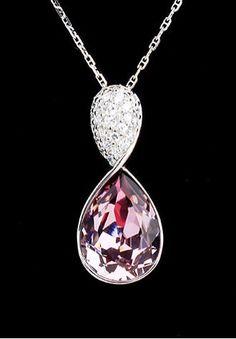 Angel Tears Swarovski Crystal Fashion Necklace Swarovski Crystal Necklace, Crystal Pendant, Swarovski Crystals, Jewelry Stores, Jewelry Sets, Fine Jewelry, Swarovski Outlet, Crystal Fashion, Fashion Necklace