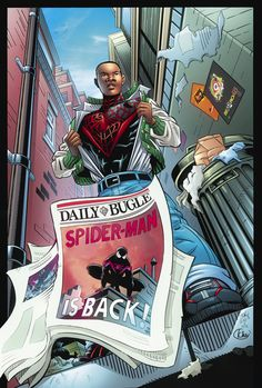 one with the new Spidey Miles Morales! Pencils David Hillman Inks Mark McKenna Colors Me! Ultimate Spider Man, Ultimate Marvel, Marvel Show, Marvel Art, Marvel Comics, Spiderman Art, Amazing Spiderman, Miles Morales Spiderman, Spider Verse